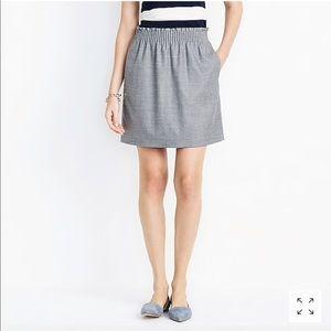 J. Crew Factory Gray Wool Sidewalk Skirt Size 2